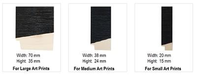 Options black wooden frame for Wondrousgoose fine art print